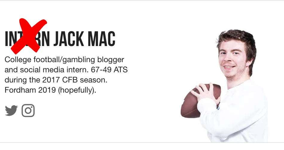 After 733 Days Intern Jack Mac Has Been Cancelled