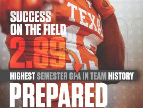 Did Texas Football Fire Their Sr. Graphic Designer For The Infamous GPA Tweet?