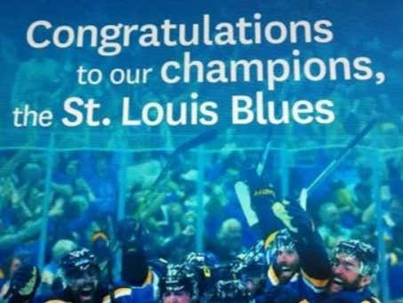 St Louis Blues Websites Are Already Selling Stanley Cup Championship Gear While The St. Louis Dispatch Runs Congratulatory Ads