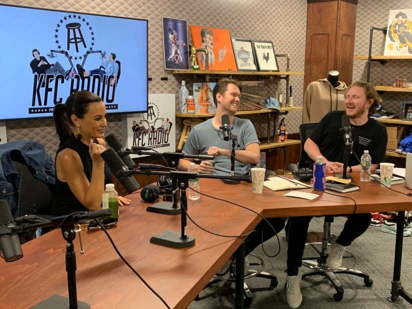 Kfc Radio Lisa Ann In Studio, Big Papi, And Justin Bieber -6338