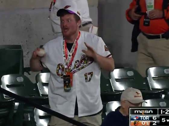 """Desperate Orioles Fan After Beating Two Kids To A Foul Ball: """"I Know It's Terrible But I've Been Coming Here For 30 Years Just To Get This!"""""""""""