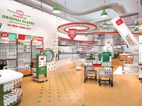 Kirspy Kreme's New NYC Shop Will Have Stadium-Style Seats With A Glaze Waterfall