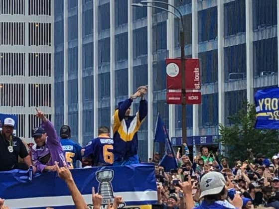 Boris The Magic Chinchilla Is Dominating The Blues Stanley Cup Parade