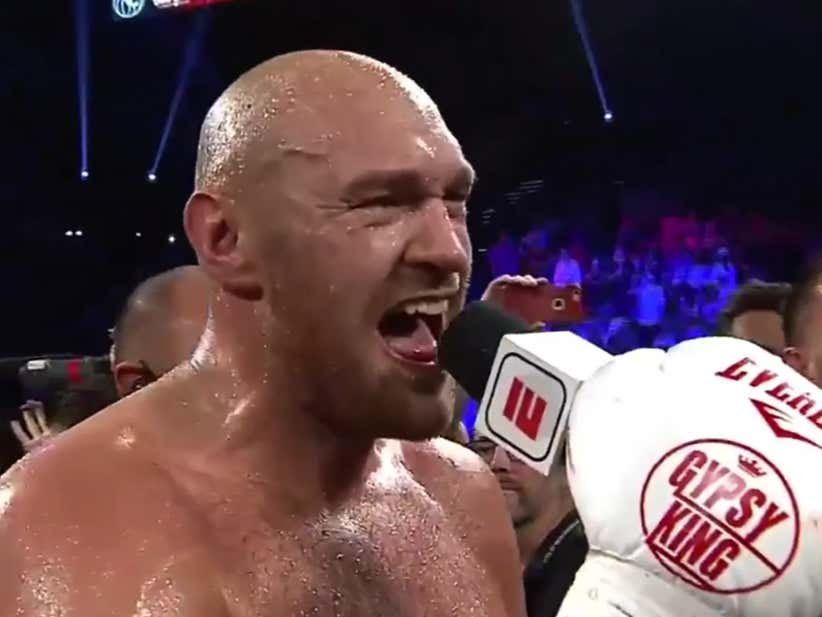 Tyson Fury Belts Out a Perfect Rendition Of Aerosmith's 'I Don't Wanna Miss a Thing' After His 2nd Round TKO Victory