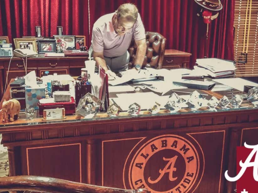 Nick Saban Stole An Auburn Recruit By Laying All His