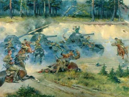 """Wake Up With A """"Did You Know?"""": Polish Cavalry Charged A German Panzer Division In WW2"""