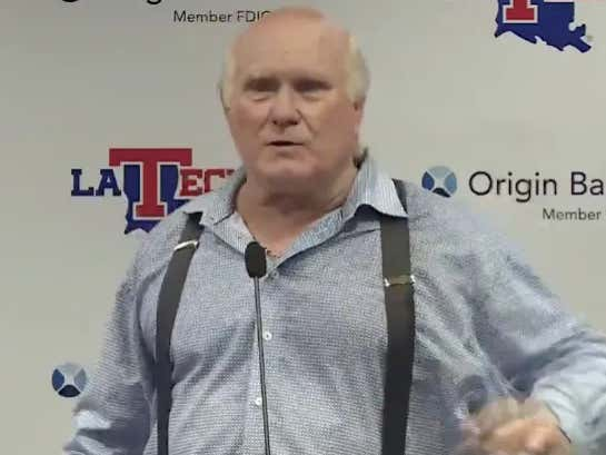 Terry Bradshaw Takes A Shot At Sam Ehlinger While Wearing Suspenders