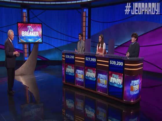 We Had An Electric Tiebreaker To Decide Last Night's Teen Jeopardy Winner