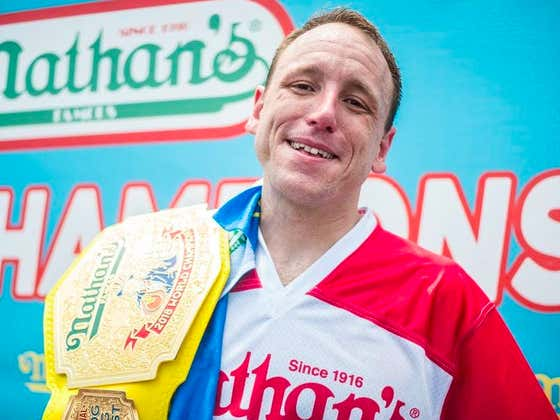HOT GAMBLING TIP: Joey Chestnut Says To Hammer The Over 74 Hot Dogs Tomorrow