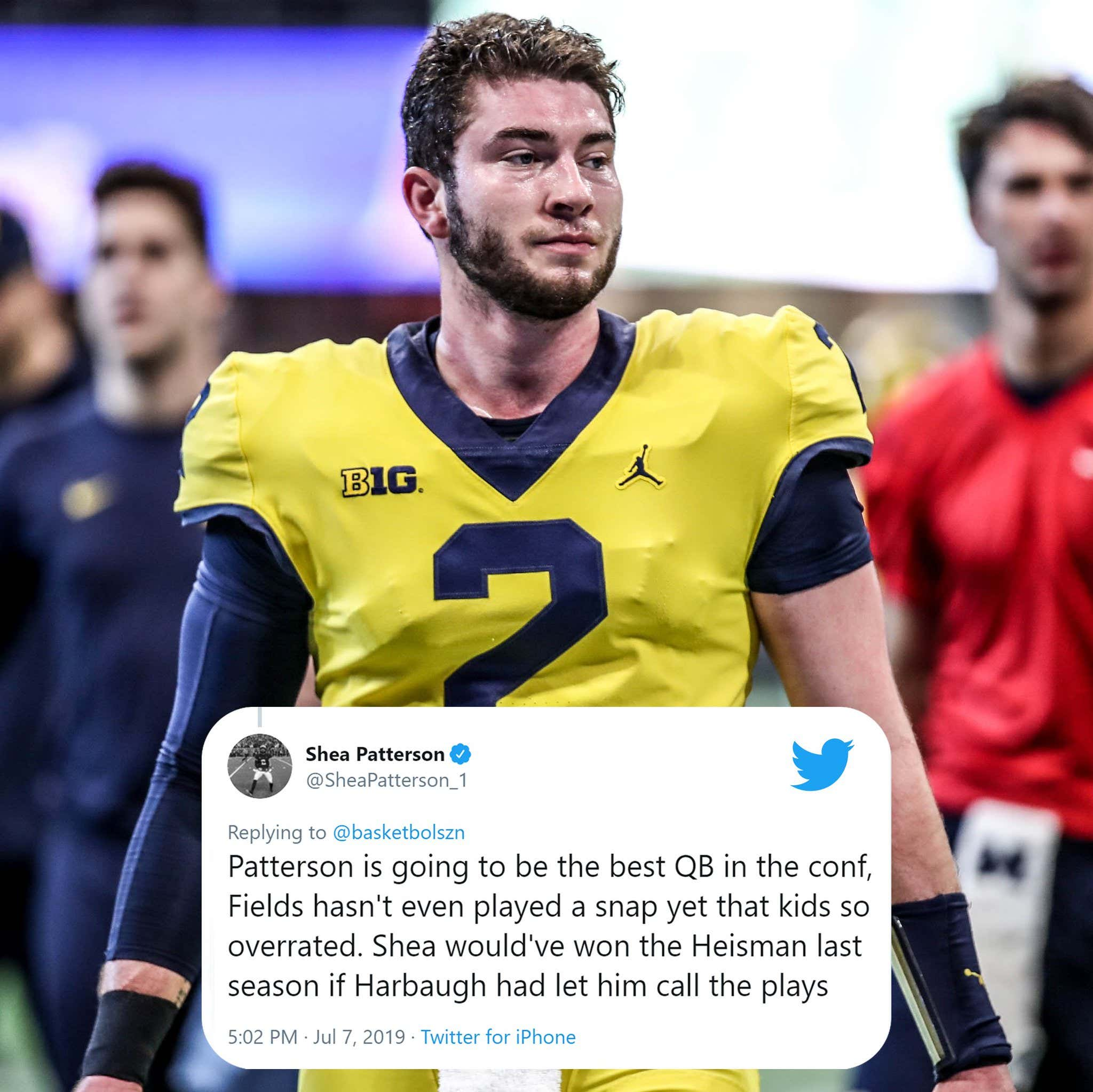 watch 41ad6 c172e Did Shea Patterson Just Throw Huge Shots At Jim Harbaugh And ...