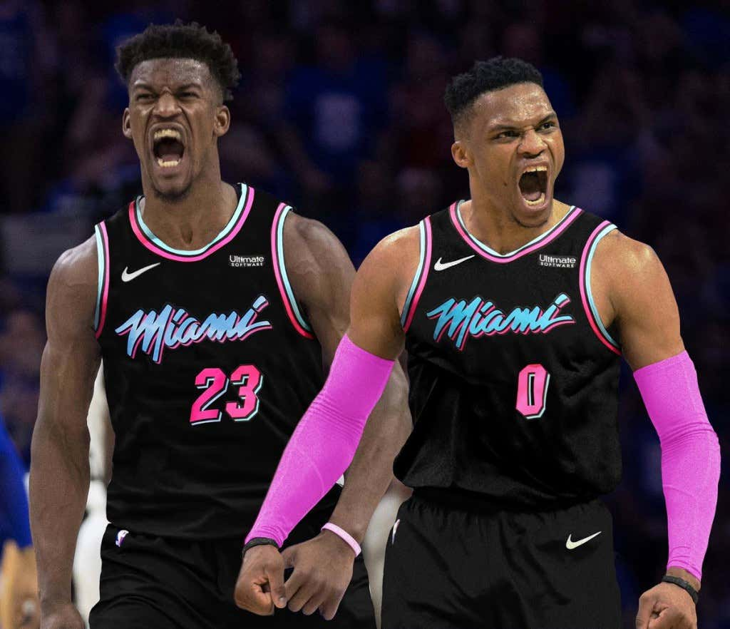Image result for russell westbrook jimmy butler heat