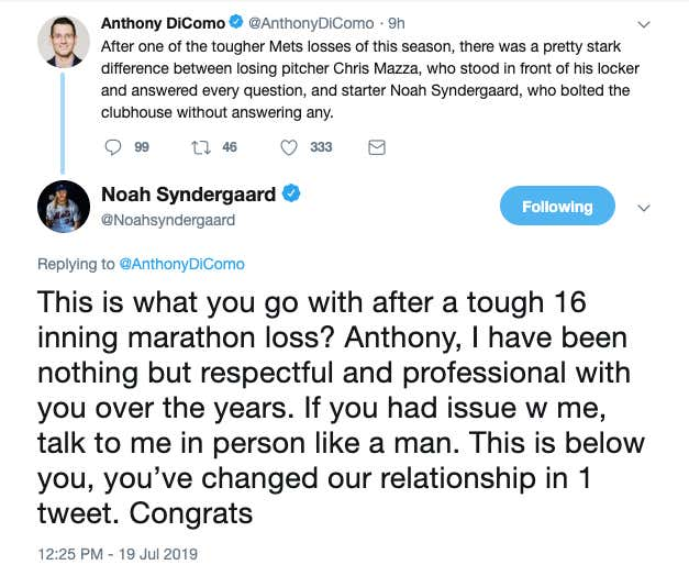 Today In Mets News: Reporter Calls Out Noah Syndergaard On