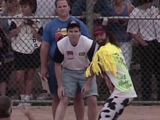 Taking You Into The Weekend With WWE Superstars Playing 16 Inch Softball In 1994