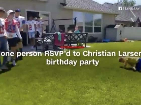 Idaho HS Football Team Shows Up To Autistic 9 Year Old's Birthday Party After His Entire Class Rejected His Invitation