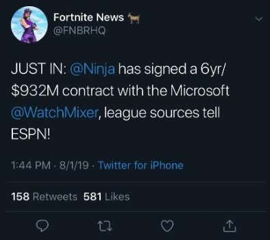 Ninja Shocked The World Today And Left Twitch For Mixer