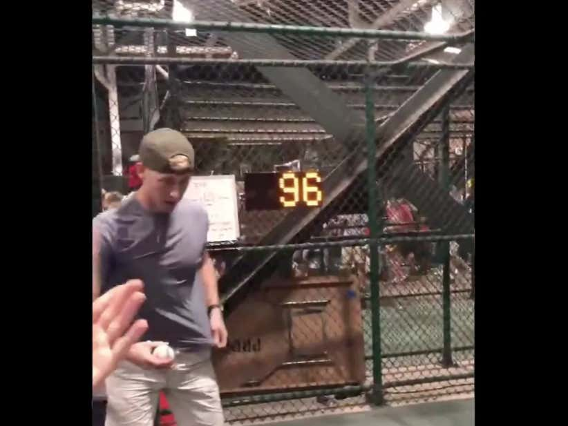 Kid Throws 96 MPH GAS At A Fan Speed Pitch Contest - Oakland A's Sign Him  To A Contract