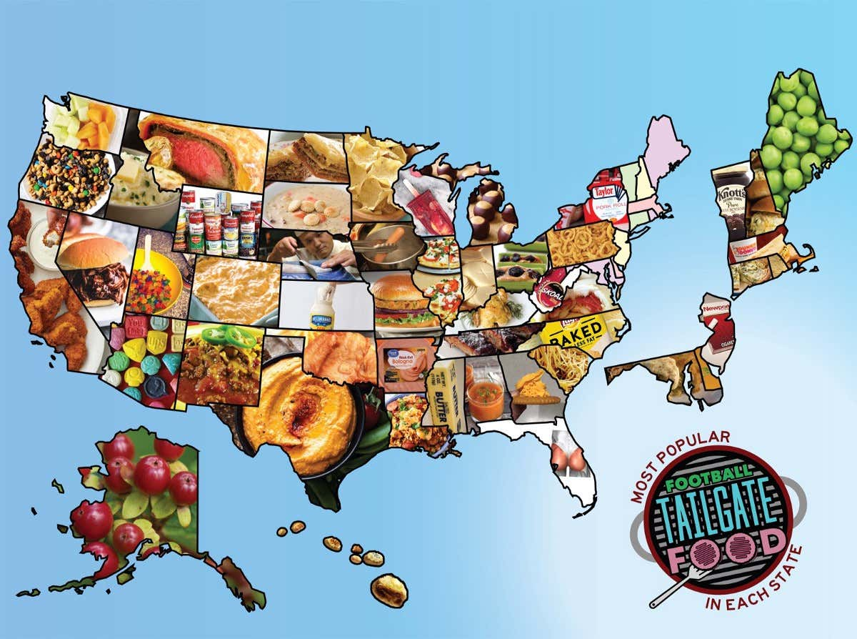 The Most Popular Football Tailgate Food In Each State Barstool