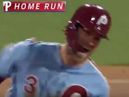 Bryce Harper With The Walk Off Grand Slam To Sweep The Cubbies #Overrated