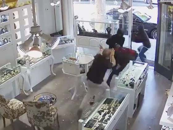 WILD Video Of A Store Clerk Fighting Off Two Dudes In The Middle Of A Robbery