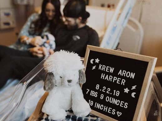 """Kayla And Bryce Harper Name Baby Son """"Krew Aron"""" And Not """"Jawnathon"""" For Some Reason"""