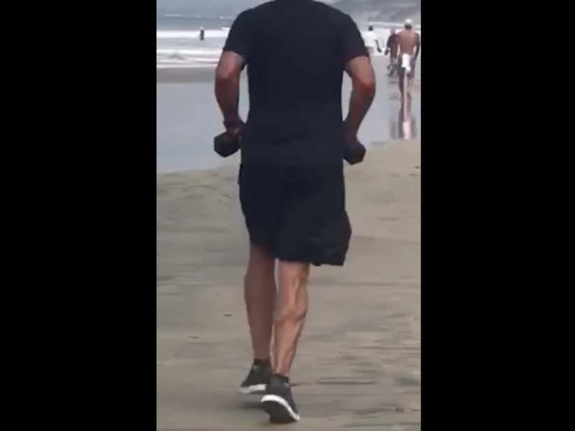 Phil Mickelson's Calves In Slow Motion As He Jogs On The Beach Are NSFW