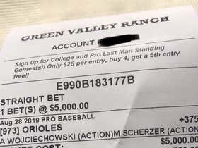 Someone Bet $5k On The 44-89 Orioles To Beat The Nationals Last Night And It Went...Poorly