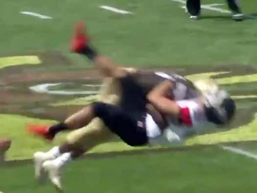It Should Be Illegal To Hit A Punter This Hard