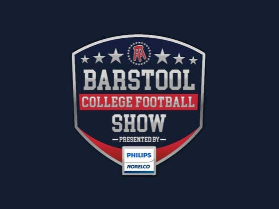 REPLAY: Barstool College Football Show presented by Philips Norelco - Week 2