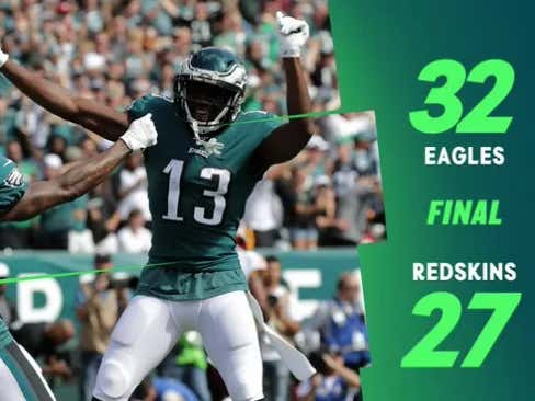Down 17-0...NEVER A DOUBT!  Kind of!  Eagles Are 1-0