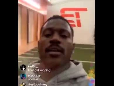 Antonio Brown Posts a Video from TB12 Fitness. And it's ... um, Interesting? I Guess?