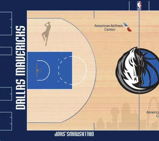 The Dirk Tribute On The Mavs Court Is Officially Real And Spectacular