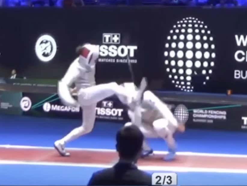 This Is Undoubtedly The Swaggiest Fencing Move You Will Ever See In Your Whole Damn Life
