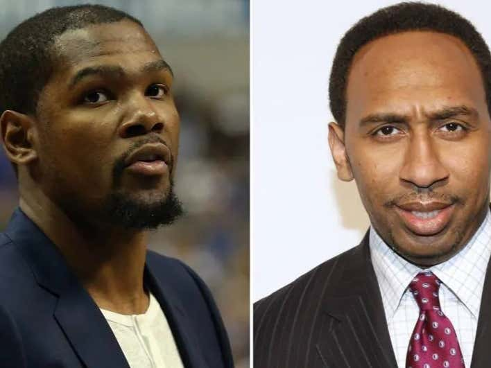 It's Only A Matter Of Time Before Kevin Durant Claps Back At Stephen A Smith For What He Said On TV Today