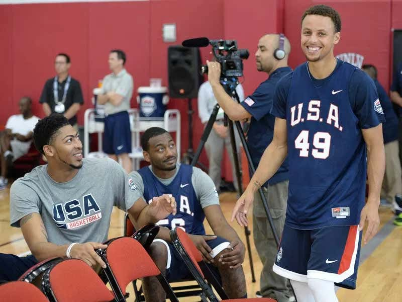 Thank God Steph Curry Is Already Committing To The Olympics So Team USA Won't Be Embarrassing By Sending A Bunch Of Celtics Players