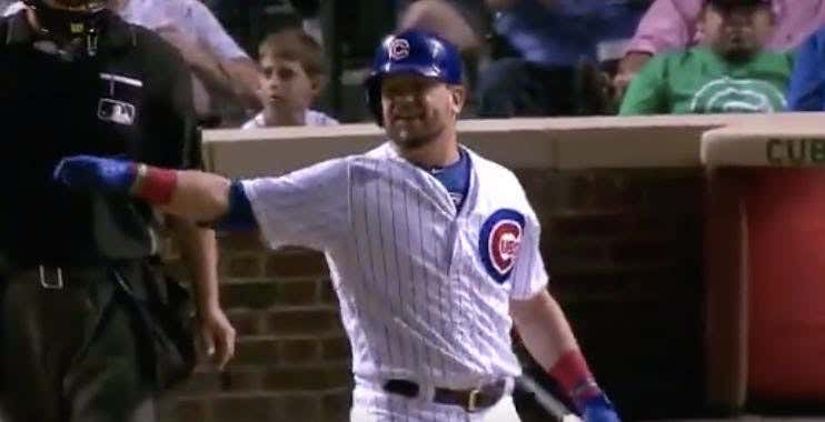 Kyle Schwarber's Reaction To Amir Garrett Striking Him Out Last Night The LAMEST Thing Of All Time