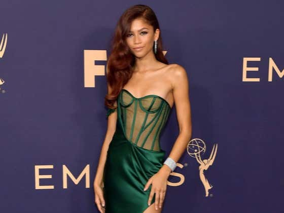 The Internet Collectively Lost Its Mind Last Night Over Zendaya's Green Dress