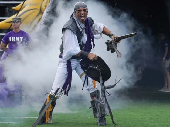 ECU (+12 vs. Temple) Will Play For Their Mascot Steve The Pirate (OUT-Hospital) Tonight