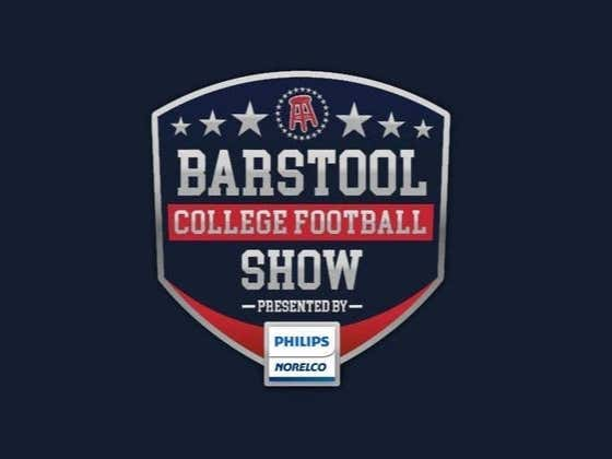 REPLAY: Barstool College Football Show presented by Philips Norelco - Week 6