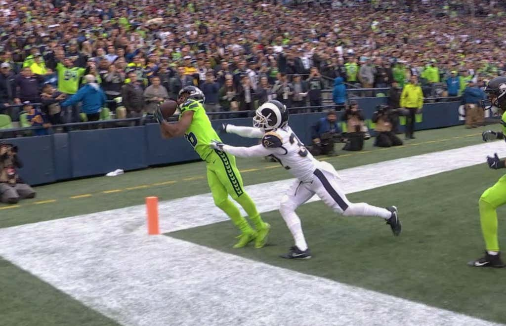 Tyler Lockett With An Early Submission For Catch Of The Year
