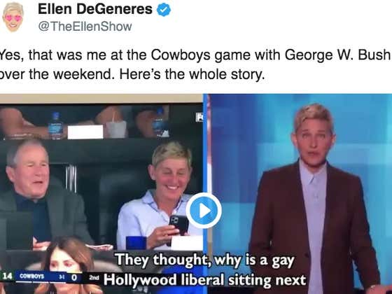 Ellen DeGeneres Explains Why She Was Sitting Next To George W. Bush At The Packers Game