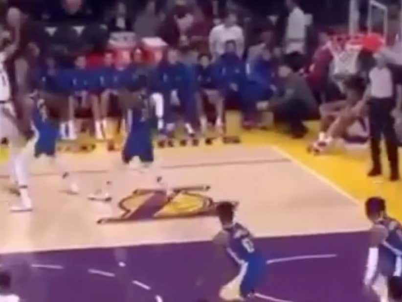 NBA Season Hasn't Even Started Yet And JaVale McGee Faking An Injury To Confuse The Defense Has Locked Up Play Of The Year