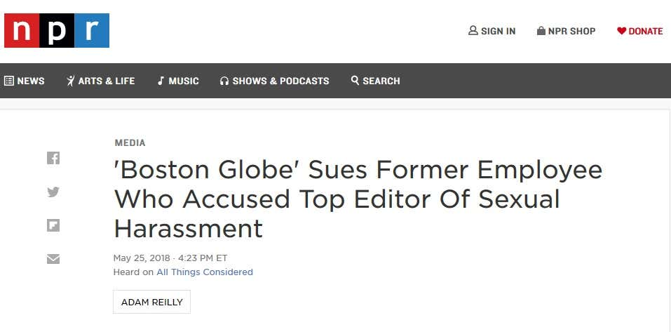 Boston Globe harassment