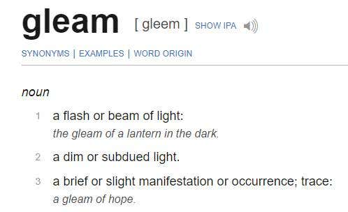 gleam definition