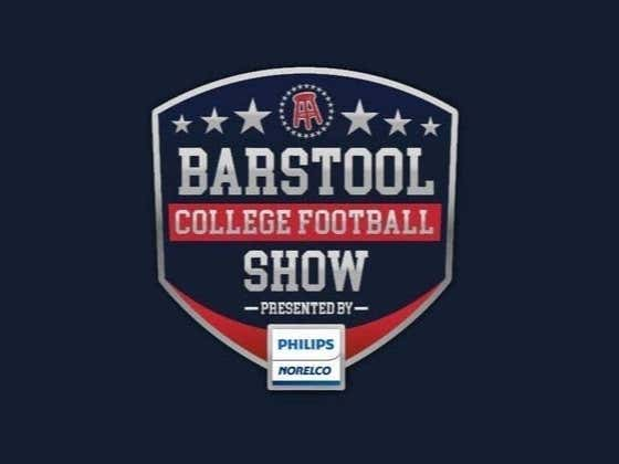 REPLAY: Barstool College Football Show presented by Philips Norelco - Week 9