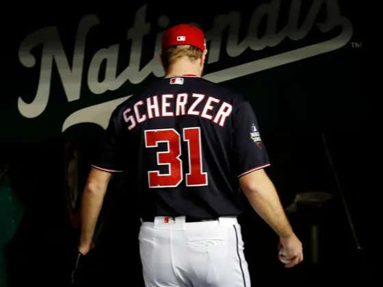 Max Scherzer Has Been Scratched From Tonight's Start - Not Great!!!