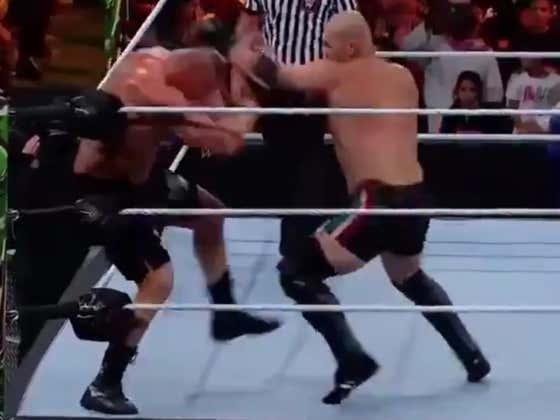 Brock Lesnar & Cain Velasquez Just Put On Some Kinda MMA/Wrestling Hybrid Match In Saudi Arabia