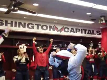 The Nats Are At The Caps Game And Things Are Going Exactly As They Should In The #DistrictOfChampions