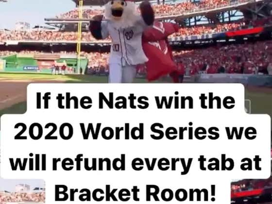 A DC-Area Bar Will Refund 100 Percent Of Tabs For An Entire Year If The Nats Go Back-To-Back