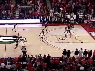 Georgia Tech hits a half court shot as time expires to backdoor +5.5