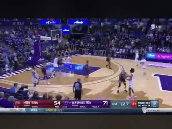 Montana scores a garbage time layup to hit the over (128.5)